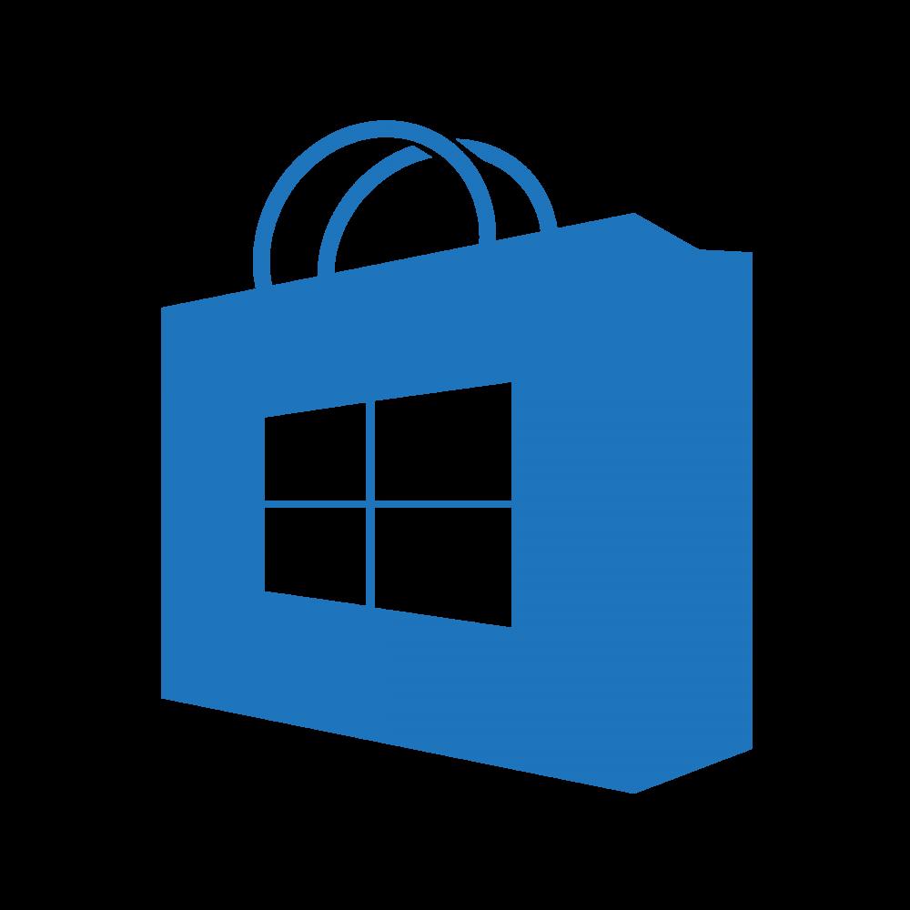 windows_store_icon__transparent_blue___homemade__by_bannax1994-d8enq8q