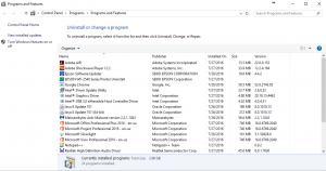 Installed Programs